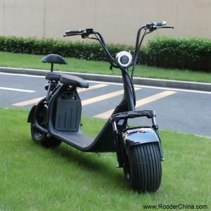 citycoco scuter electric cu 60V harley detașabil baterie cu litiu mare roata de grăsime anvelope și motor puternic de 1000W de la Rooder Technology