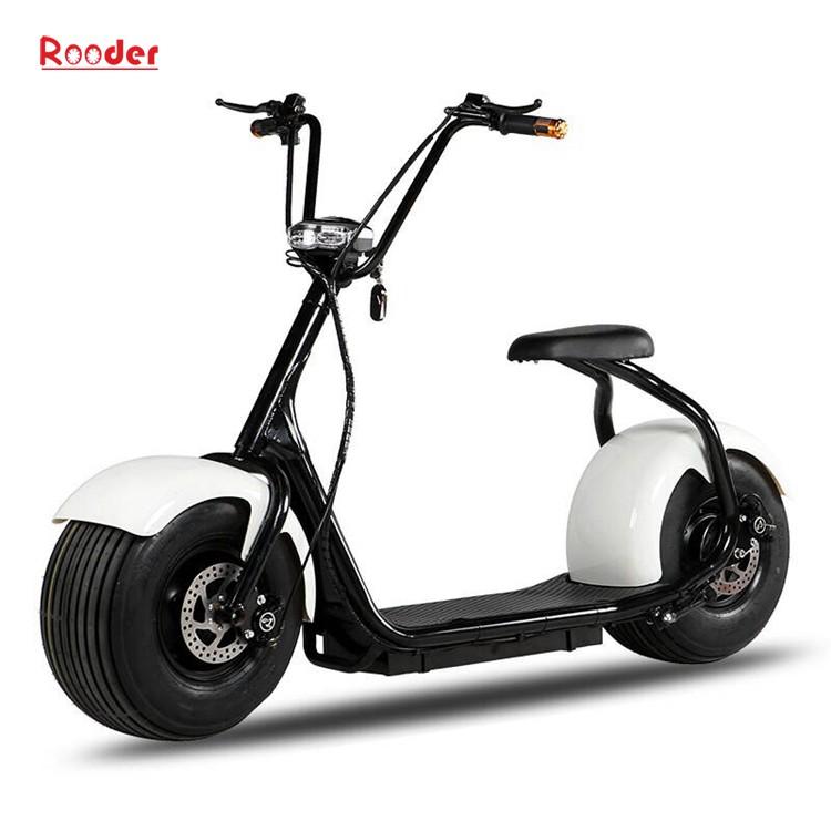 harley elektrik hindistancevizi Çin ucuz şehirden yetişkin için CE 1000w 60V lityum pil ve 2 büyük teker şişman lastik scooter r804 harley elektrikli motosiklet bisiklet Rooder fabrikasında (13) citycoco