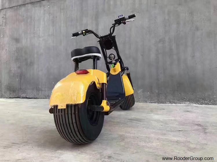 To hjul voksen elektrisk scooter med ce fcc overensstemmelse sertifisering fremre støtdemper fett dekk 1000w motor 48v 60v 72V litiumbatteri fra Harley by coco produsenten (23)