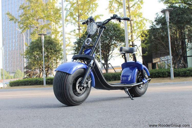 To hjul voksen elektrisk scooter med ce fcc overensstemmelse sertifisering fremre støtdemper fett dekk 1000w motor 48v 60v 72V litiumbatteri fra Harley by coco produsenten (42)