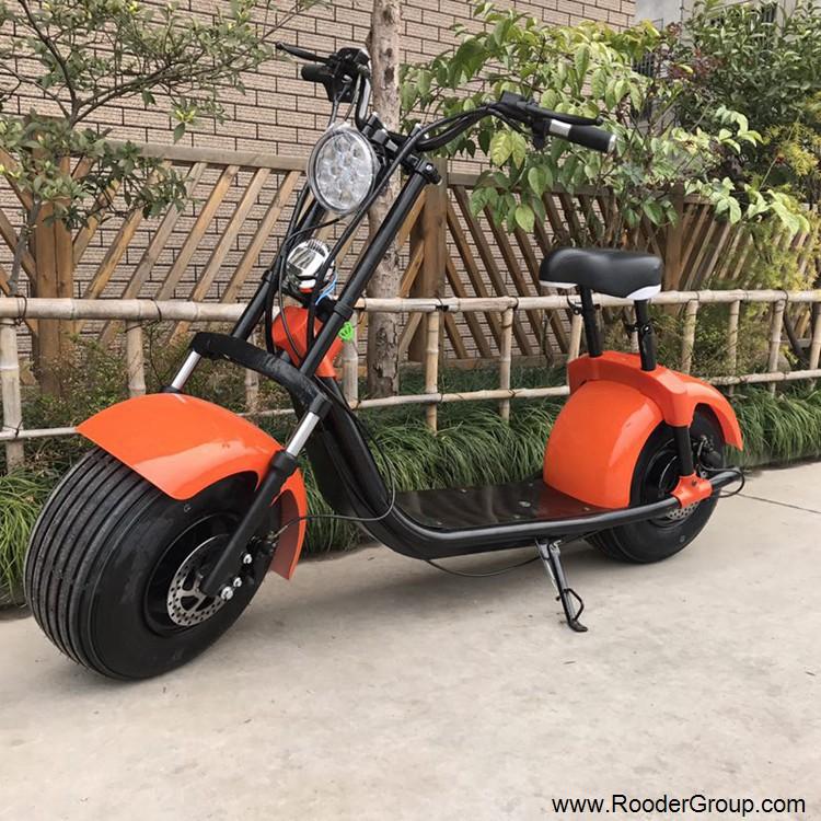 To hjul voksen elektrisk scooter med ce fcc overensstemmelse sertifisering fremre støtdemper fett dekk 1000w motor 48v 60v 72V litiumbatteri fra Harley by coco produsenten (17)