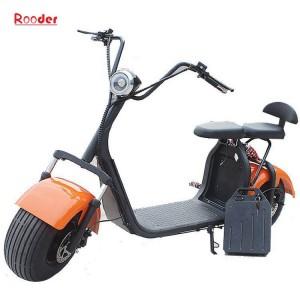 harley elektrisk scooter 1000w r804c med to store motorsykkel hjul fett dekk 60V litiumbatteri 100 farger fra Rooder e-scooter eksportør selskap