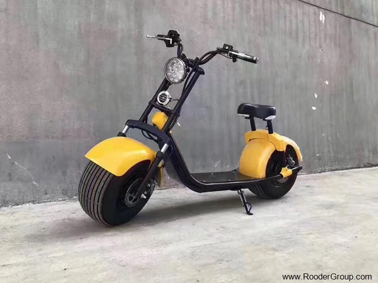 2 ratų suaugusiųjų elektrinis motoroleris su CE FCC RoHS sertifikavimo priekinis amortizatorius riebalų padangų 1000W varikliu 48V 60V 72V ličio baterija nuo Harley miesto kokoso gamintojo (20)