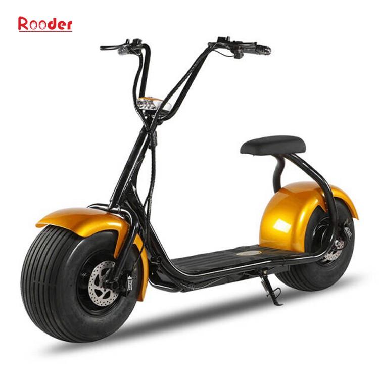 harley elektrik hindistancevizi Çin ucuz şehirden yetişkin için CE 1000w 60V lityum pil ve 2 büyük teker şişman lastik scooter r804 harley elektrikli motosiklet bisiklet Rooder fabrikasında (14) citycoco