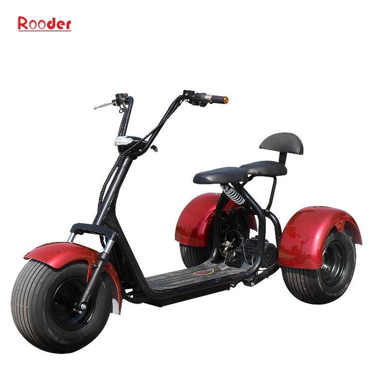 지방 타이어 60V 리튬 배터리 1,000w 모터 사용자 정의 속도 숙련 된 색상 블랙 화이트 레드 그린 핑크 옐로우 오렌지 낙서 3 륜 전기 스쿠터 r804t (1)