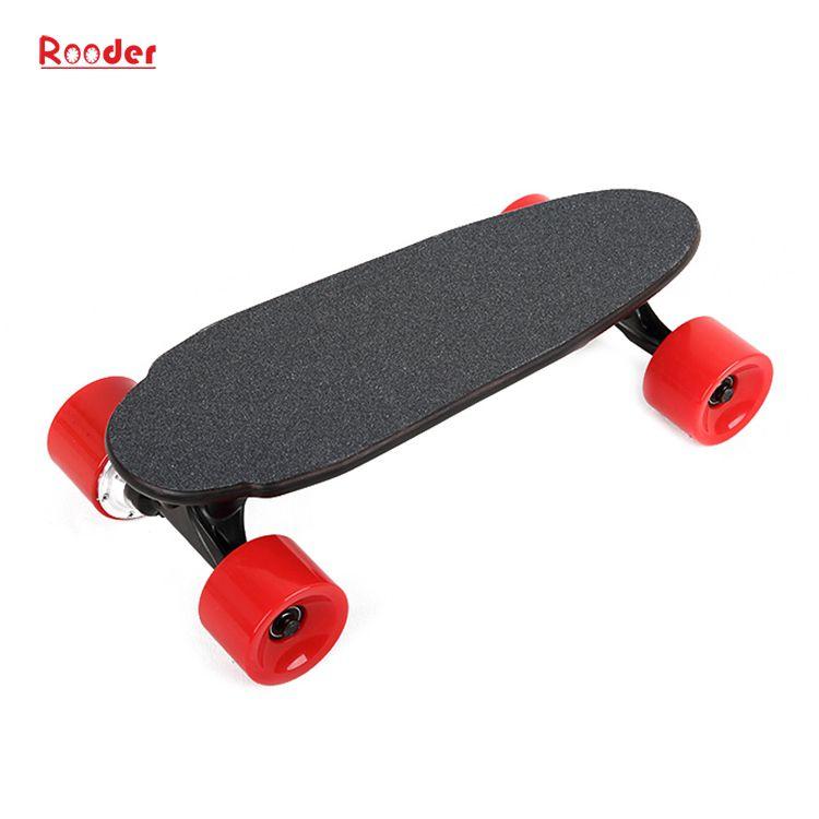 mini fire hjul elektrisk skateboard med 24v litiumbatteri 3kgs bare engros-pris fra Rooder fire hjul elektrisk rullebrett fabrikk Produsenten leverandør (6)