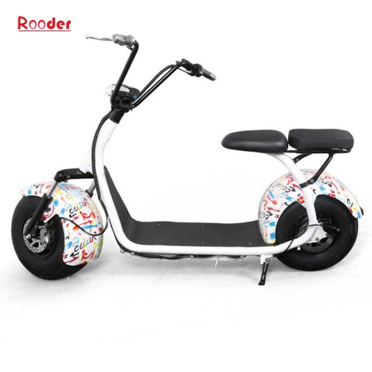 hindistancevizi Çin ucuz şehirden yetişkin için CE 1000w 60V lityum pil ve 2 büyük teker şişman lastik harley elektrikli scooter r804 harley elektrikli motosiklet bisiklet Rooder fabrika citycoco (9)