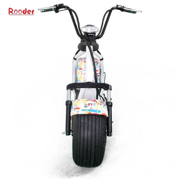 harley elektrik hindistancevizi Çin ucuz şehirden yetişkin için CE 1000w 60V lityum pil ve 2 büyük teker şişman lastik scooter r804 harley elektrikli motosiklet bisiklet Rooder fabrikasında (10) citycoco