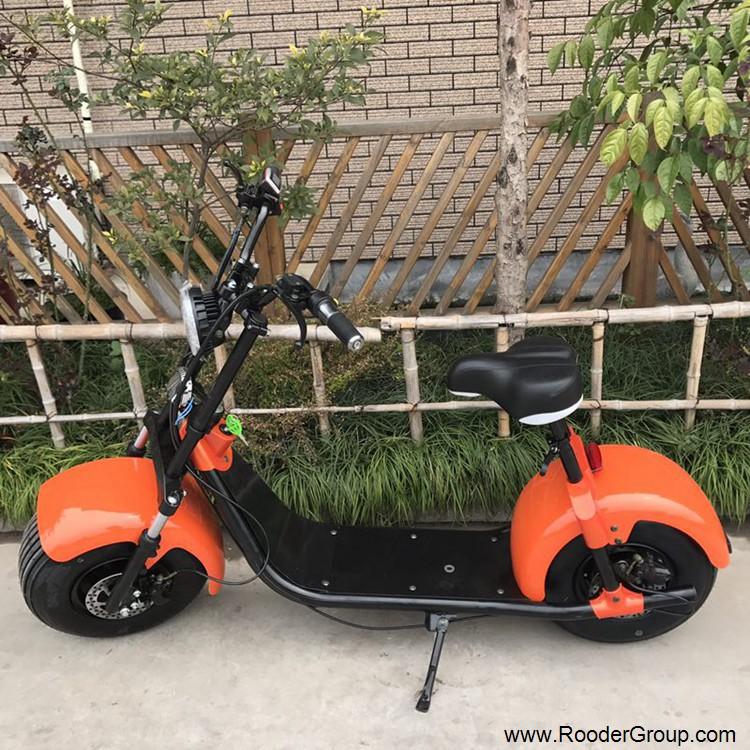 To hjul voksen elektrisk scooter med ce fcc overensstemmelse sertifisering fremre støtdemper fett dekk 1000w motor 48v 60v 72V litiumbatteri fra Harley by coco produsenten (16)