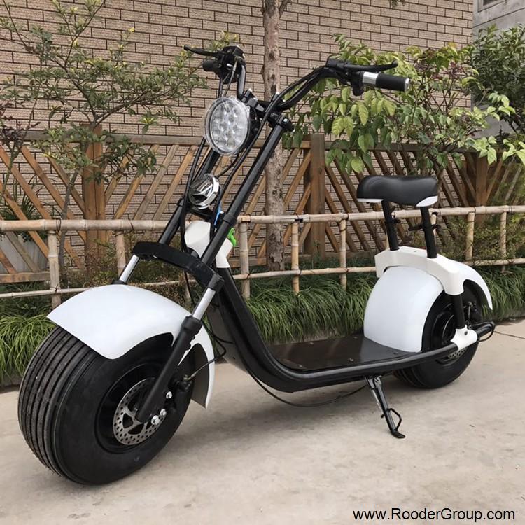 To hjul voksen elektrisk scooter med ce fcc overensstemmelse sertifisering fremre støtdemper fett dekk 1000w motor 48v 60v 72V litiumbatteri fra Harley by coco produsenten (6)