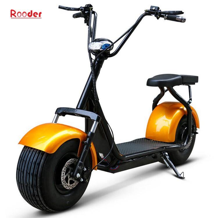 harley elektrik hindistancevizi Çin ucuz şehirden yetişkin için CE 1000w 60V lityum pil ve 2 büyük teker şişman lastik scooter r804 harley elektrikli motosiklet bisiklet Rooder fabrikasında (26) citycoco
