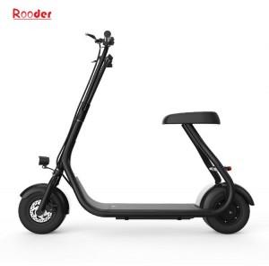 Rooder 전기 스쿠터 오토바이 제조 업체의 공급 업체 공장에서 48V 리튬 이온 배터리 10 인치 지방 타이어 30km/h 최대 속도로 도시 스쿠터 미니 모델