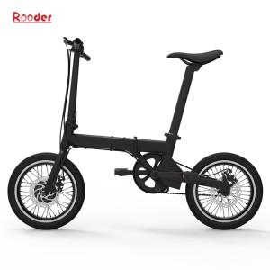 china elektrische fiets r809 met 16 inch banden aluminiumlegering en slechts verwisselbare lithiumbatterij 14kgs