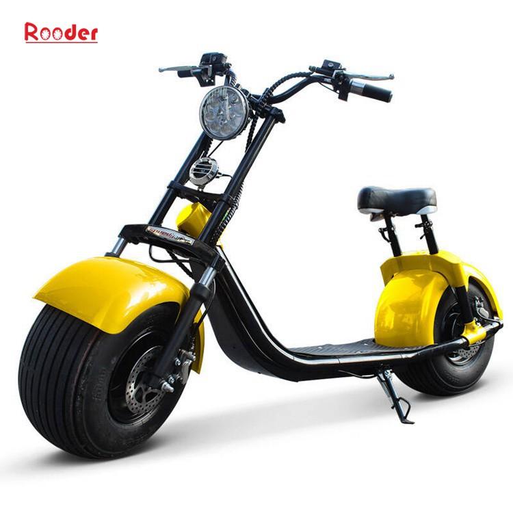To hjul voksen elektrisk scooter med ce fcc overensstemmelse sertifisering fremre støtdemper fett dekk 1000w motor 48v 60v 72V litiumbatteri fra Harley by coco produsenten (1)