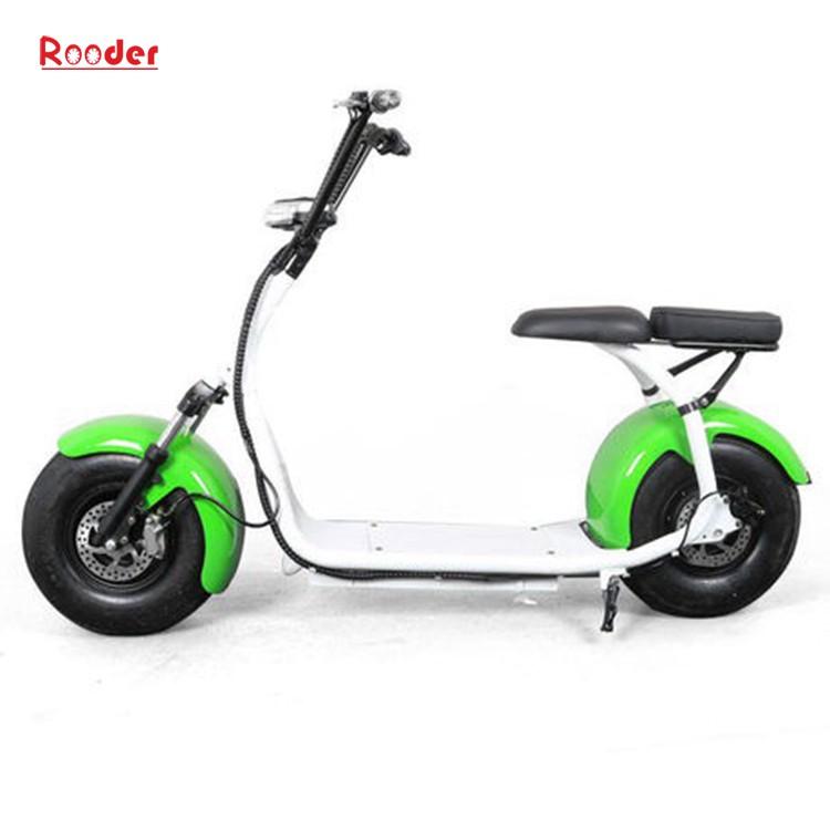 harley elektrik hindistancevizi Çin ucuz şehirden yetişkin için CE 1000w 60V lityum pil ve 2 büyük teker şişman lastik scooter r804 harley elektrikli motosiklet bisiklet Rooder fabrikasında (22) citycoco