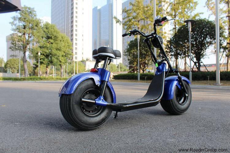 To hjul voksen elektrisk scooter med ce fcc overensstemmelse sertifisering fremre støtdemper fett dekk 1000w motor 48v 60v 72V litiumbatteri fra Harley by coco produsenten (44)