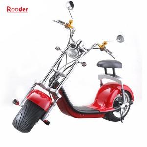 2018 Li-ion batteri elektrisk scooter r804a whit høy kvalitet citycoco Harley 1000w motor foran bak støtdemping bremselyset dreie lys og speil