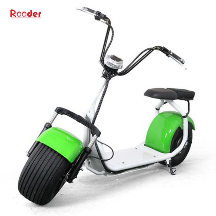 harley elektrik hindistancevizi Çin ucuz şehirden yetişkin için CE 1000w 60V lityum pil ve 2 büyük teker şişman lastik scooter r804 harley elektrikli motosiklet bisiklet Rooder fabrikasında (23) citycoco