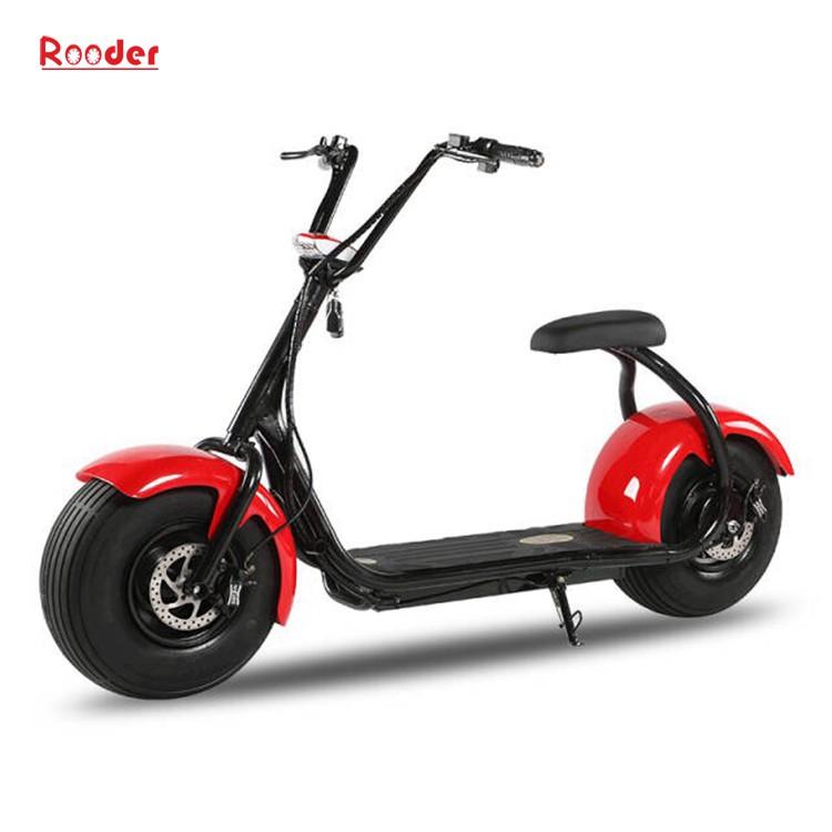 harley elektrik hindistancevizi Çin ucuz şehirden yetişkin için CE 1000w 60V lityum pil ve 2 büyük teker şişman lastik scooter r804 harley elektrikli motosiklet bisiklet Rooder fabrikasında (15) citycoco