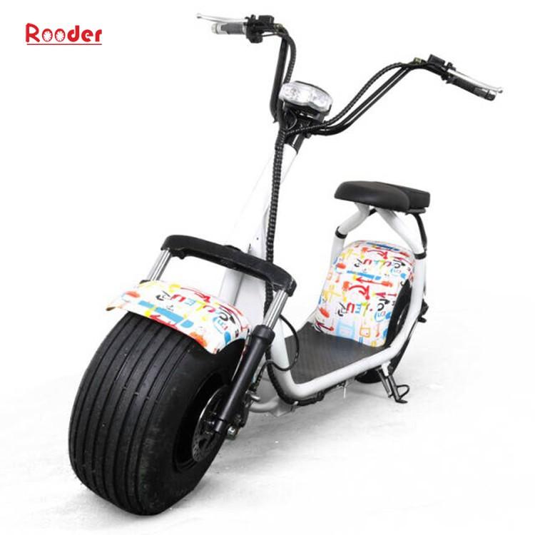 harley elektrik hindistancevizi Çin ucuz şehirden yetişkin için CE 1000w 60V lityum pil ve 2 büyük teker şişman lastik scooter r804 harley elektrikli motosiklet bisiklet Rooder fabrikasında (11) citycoco