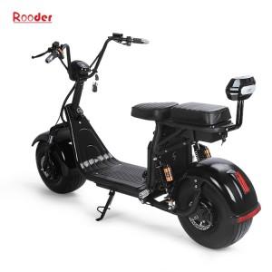 הארלי גלגל הקטנוע החשמלי הגדול citycoco EEC עם סוללה נשלפת R804g הראה התערוכה חשמלי