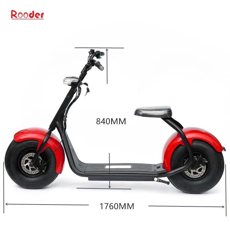 harley elektrik hindistancevizi Çin ucuz şehirden yetişkin için CE 1000w 60V lityum pil ve 2 büyük teker şişman lastik scooter r804 harley elektrikli motosiklet bisiklet Rooder fabrikasında (21) citycoco