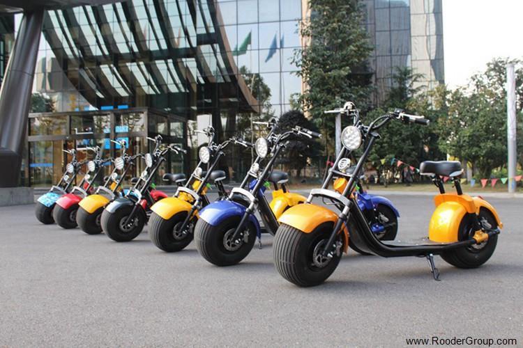 To hjul voksen elektrisk scooter med ce fcc overensstemmelse sertifisering fremre støtdemper fett dekk 1000w motor 48v 60v 72V litiumbatteri fra Harley by coco produsenten (25)