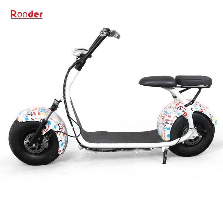 hindistancevizi Çin ucuz şehirden yetişkin için CE 1000w 60V lityum pil ve 2 büyük teker şişman lastik harley elektrikli scooter r804 harley elektrikli motosiklet bisiklet Rooder fabrika citycoco (8)