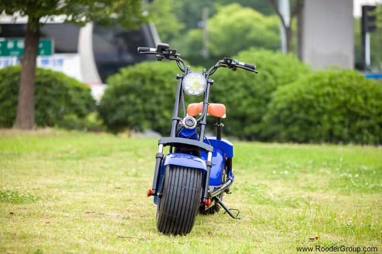 To hjul voksen elektrisk scooter med ce fcc overensstemmelse sertifisering fremre støtdemper fett dekk 1000w motor 48v 60v 72V litiumbatteri fra Harley by coco produsenten (28)