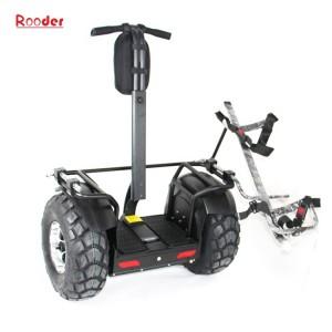 leictreach W7 scooter 2000W le sealbhóir mála 19 orlach de thalamh boinn bóthair gailf le haghaidh golf cart chlub cúrsa gailf