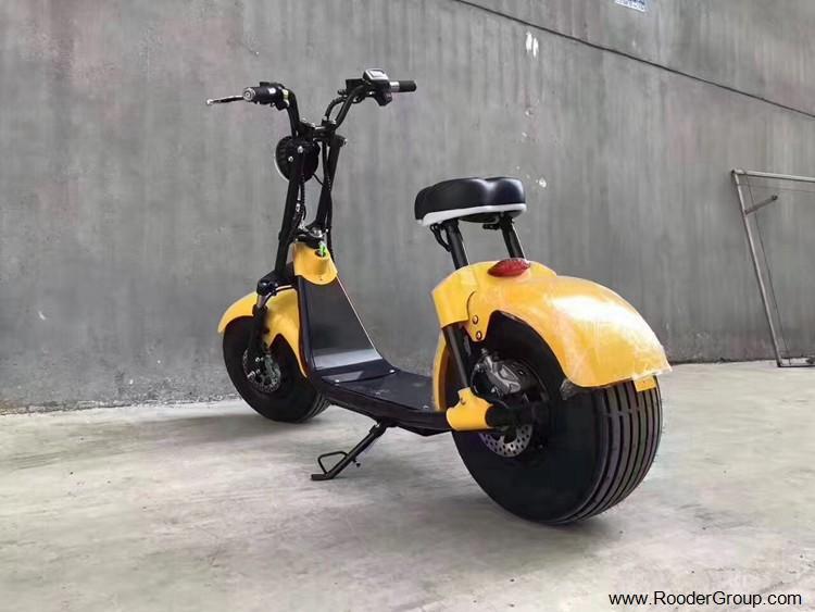 To hjul voksen elektrisk scooter med ce fcc overensstemmelse sertifisering fremre støtdemper fett dekk 1000w motor 48v 60v 72V litiumbatteri fra Harley by coco produsenten (22)