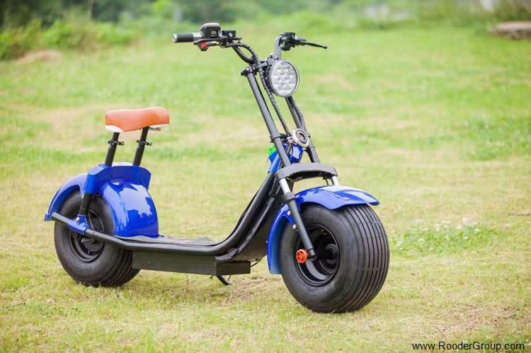 To hjul voksen elektrisk scooter med ce fcc overensstemmelse sertifisering fremre støtdemper fett dekk 1000w motor 48v 60v 72V litiumbatteri fra Harley by coco produsenten (26)