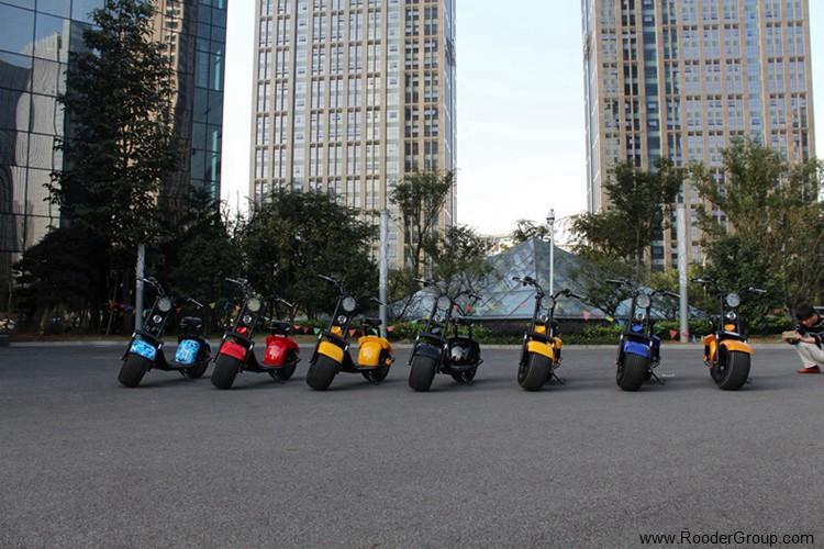 To hjul voksen elektrisk scooter med ce fcc overensstemmelse sertifisering fremre støtdemper fett dekk 1000w motor 48v 60v 72V litiumbatteri fra Harley by coco produsenten (24)