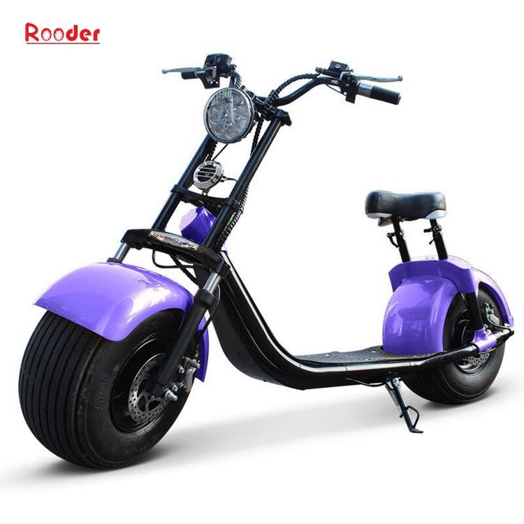 To hjul voksen elektrisk scooter med ce fcc overensstemmelse sertifisering fremre støtdemper fett dekk 1000w motor 48v 60v 72V litiumbatteri fra Harley by coco produsenten (2)