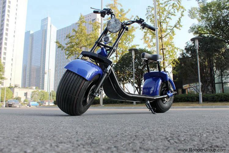 To hjul voksen elektrisk scooter med ce fcc overensstemmelse sertifisering fremre støtdemper fett dekk 1000w motor 48v 60v 72V litiumbatteri fra Harley by coco produsenten (35)