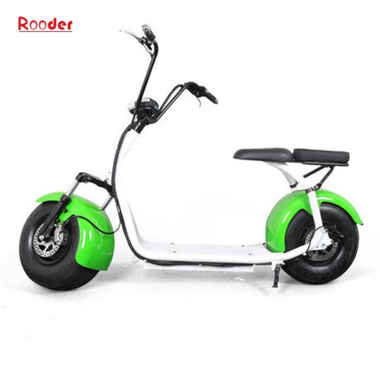 harley elektrik hindistancevizi Çin ucuz şehirden yetişkin için CE 1000w 60V lityum pil ve 2 büyük teker şişman lastik scooter r804 harley elektrikli motosiklet bisiklet Rooder fabrikasında (24) citycoco