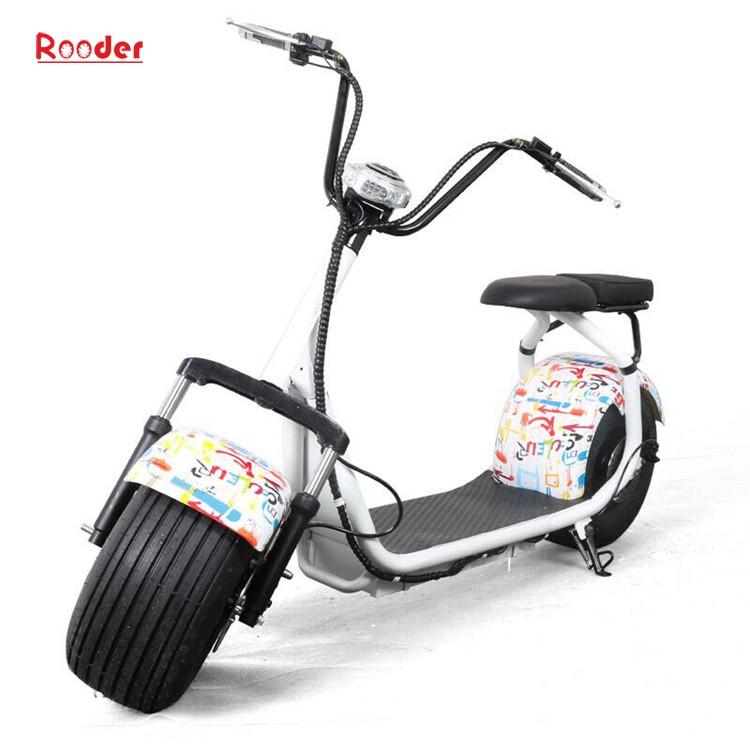 hindistancevizi Çin ucuz şehirden yetişkin için CE 1000w 60V lityum pil ve 2 büyük teker şişman lastik harley elektrikli scooter r804 harley elektrikli motosiklet bisiklet Rooder fabrika citycoco (7)