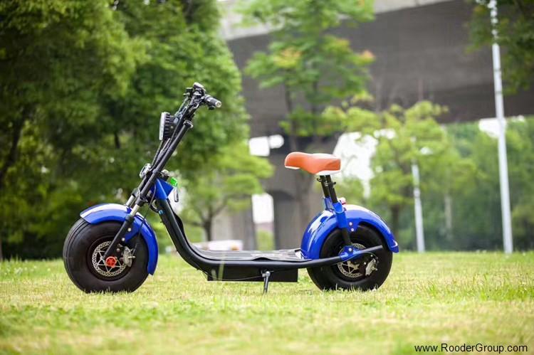 To hjul voksen elektrisk scooter med ce fcc overensstemmelse sertifisering fremre støtdemper fett dekk 1000w motor 48v 60v 72V litiumbatteri fra Harley by coco produsenten (33)