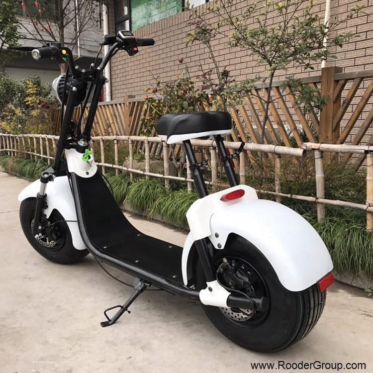 To hjul voksen elektrisk scooter med ce fcc overensstemmelse sertifisering fremre støtdemper fett dekk 1000w motor 48v 60v 72V litiumbatteri fra Harley by coco produsenten (8)