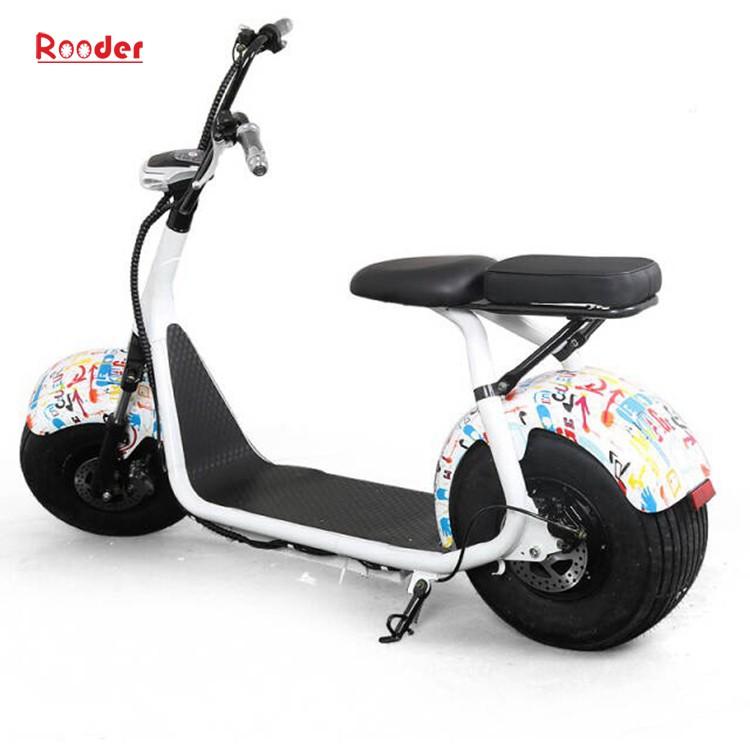harley elektrik hindistancevizi Çin ucuz şehirden yetişkin için CE 1000w 60V lityum pil ve 2 büyük teker şişman lastik scooter r804 harley elektrikli motosiklet bisiklet Rooder fabrikasında (12) citycoco