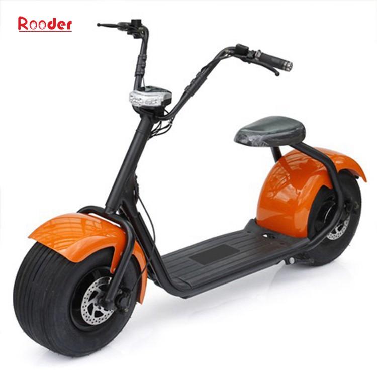 harley elektrik hindistancevizi Çin ucuz şehirden yetişkin için CE 1000w 60V lityum pil ve 2 büyük teker şişman lastik scooter r804 harley elektrikli motosiklet bisiklet Rooder fabrikasında (19) citycoco