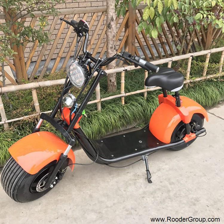 To hjul voksen elektrisk scooter med ce fcc overensstemmelse sertifisering fremre støtdemper fett dekk 1000w motor 48v 60v 72V litiumbatteri fra Harley by coco produsenten (19)