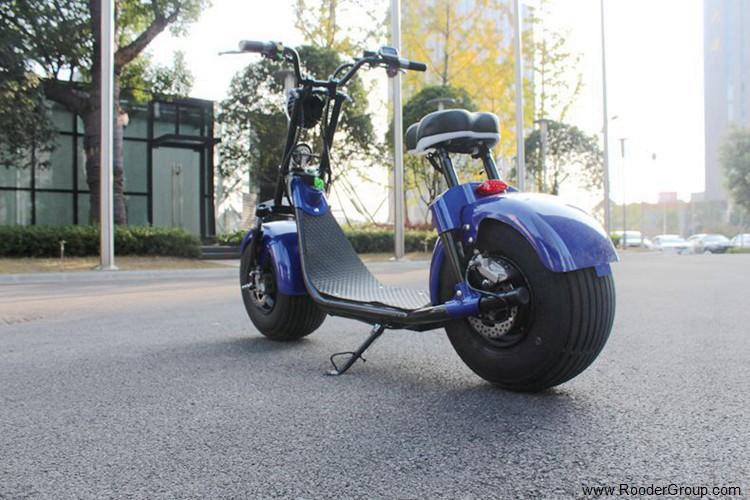 To hjul voksen elektrisk scooter med ce fcc overensstemmelse sertifisering fremre støtdemper fett dekk 1000w motor 48v 60v 72V litiumbatteri fra Harley by coco produsenten (50)
