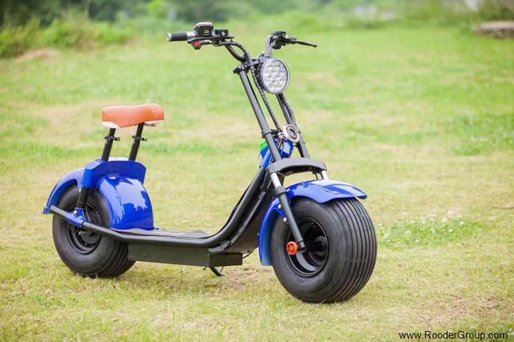To hjul voksen elektrisk scooter med ce fcc overensstemmelse sertifisering fremre støtdemper fett dekk 1000w motor 48v 60v 72V litiumbatteri fra Harley by coco produsenten (29)