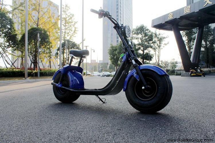 2 ratų suaugusiųjų elektrinis motoroleris su CE FCC RoHS sertifikavimo priekinis amortizatorius riebalų padangų 1000W varikliu 48V 60V 72V ličio baterija nuo Harley miesto kokoso gamintojo (37)