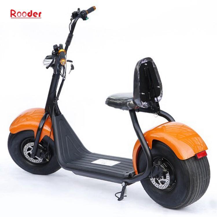 harley elektrik hindistancevizi Çin ucuz şehirden yetişkin için CE 1000w 60V lityum pil ve 2 büyük teker şişman lastik scooter r804 harley elektrikli motosiklet bisiklet Rooder fabrikasında (20) citycoco