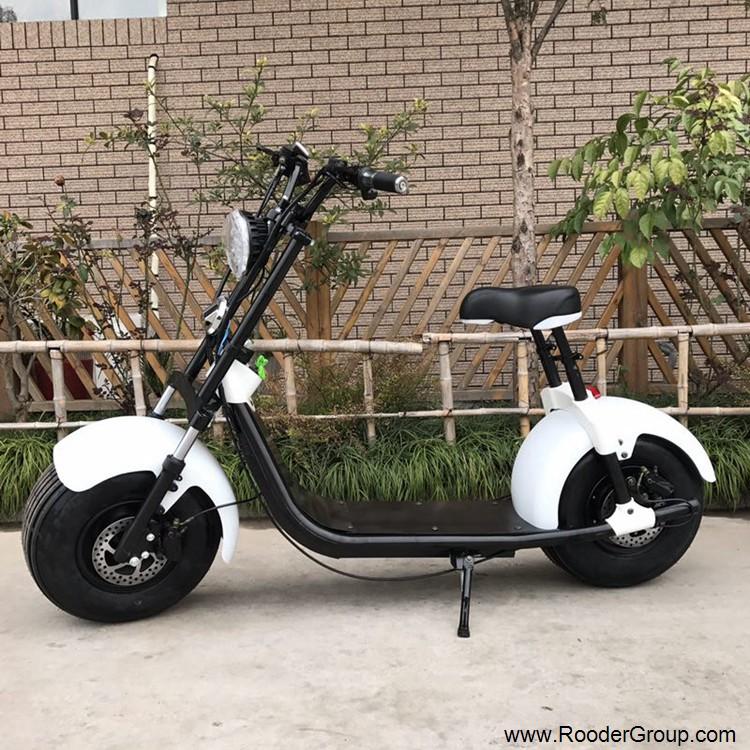 To hjul voksen elektrisk scooter med ce fcc overensstemmelse sertifisering fremre støtdemper fett dekk 1000w motor 48v 60v 72V litiumbatteri fra Harley by coco produsenten (7)