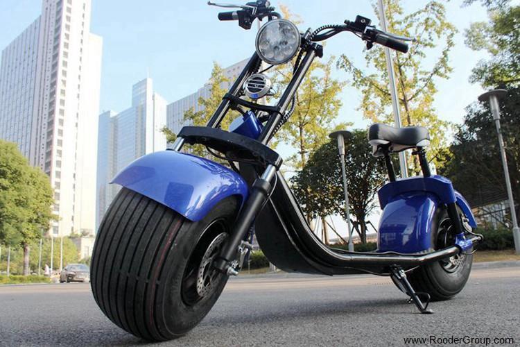 To hjul voksen elektrisk scooter med ce fcc overensstemmelse sertifisering fremre støtdemper fett dekk 1000w motor 48v 60v 72V litiumbatteri fra Harley by coco produsenten (53)
