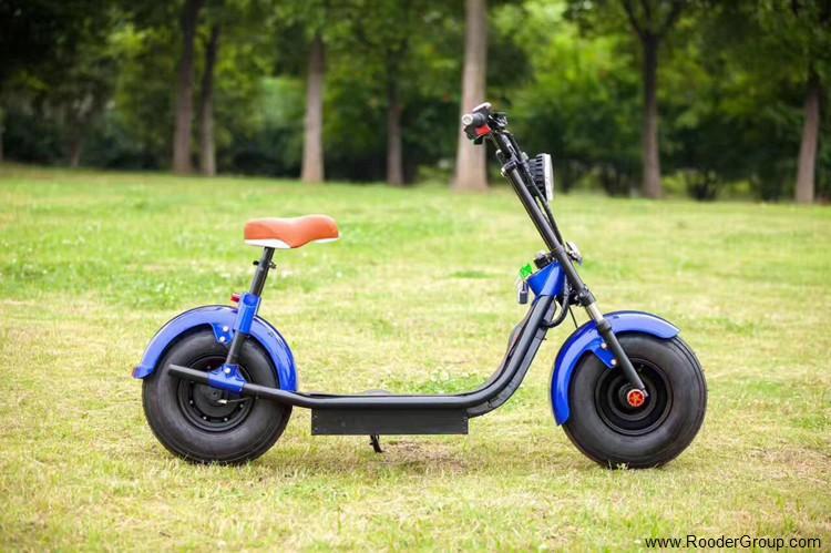 To hjul voksen elektrisk scooter med ce fcc overensstemmelse sertifisering fremre støtdemper fett dekk 1000w motor 48v 60v 72V litiumbatteri fra Harley by coco produsenten (27)