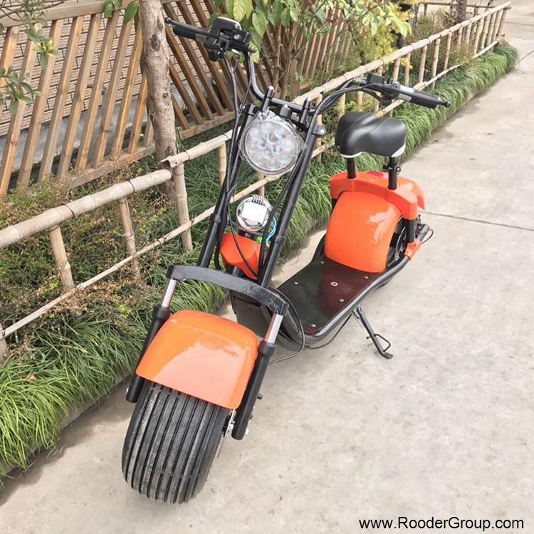 2 ratų suaugusiųjų elektrinis motoroleris su CE FCC RoHS sertifikavimo priekinis amortizatorius riebalų padangų 1000W varikliu 48V 60V 72V ličio baterija nuo Harley miesto kokoso gamintojo (18)